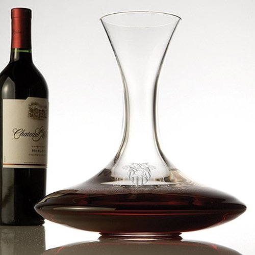 West Point Lead Crystal Ships Decanter